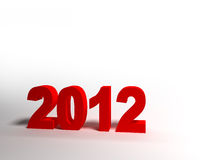 Red 3d figures in 2012. 2012. 3d red numbers on white background Stock Photos