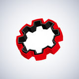 Red 3D gear Royalty Free Stock Image