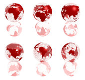 Red 3d globe Royalty Free Stock Photography