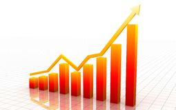 Red 3d graph Royalty Free Stock Images