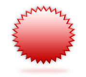 Red 3d label. A shiny red 3d label isolated over white background Stock Image