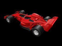 Red 3D race car rear view Royalty Free Stock Photography
