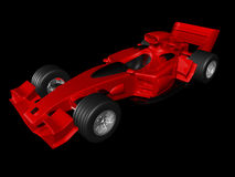 Red 3D race car side view Royalty Free Stock Photos