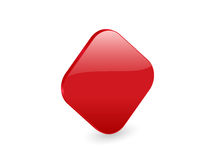 Red 3d rhomb icon Royalty Free Stock Photo