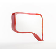 Red 3d speech bubble. Isolated on white stock illustration
