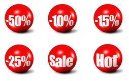 Red 3D spheres Stock Photo