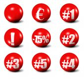 Red 3D spheres Royalty Free Stock Photography