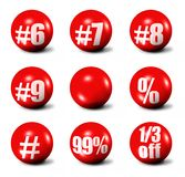 Red 3D spheres Royalty Free Stock Photos