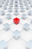 Red 3D square Stock Images