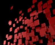Red 3D squares background. Royalty Free Stock Photo