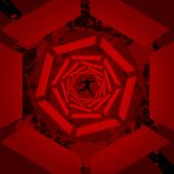 Red 3D tunnel background Royalty Free Stock Images