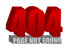 Red 404 error Stock Image
