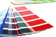 Red. Color palette and different collors stock photos