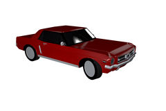 Red 70's Car. Illustration of a red 70's car against a white background vector illustration