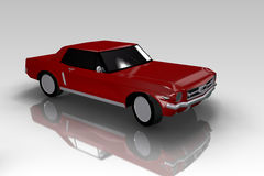 Red 70's Car On Grey BackGround Royalty Free Stock Images