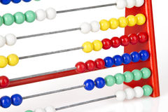 Red abacus Stock Image