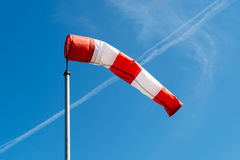 Red abd white windsock Stock Photography