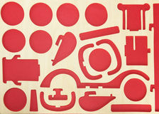 Red absrtract Stock Photography