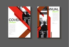 Red abstrac background modern cover design modern book covert Br. Ochure cover  template,annual report, magazine and flyer layout Vector a4 Stock Photography