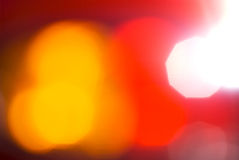 Red abstract. Red and yellow de-focused lights abstract for background Royalty Free Stock Photography