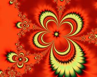 Red Abstract 70s Background Stock Image