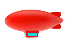 Red abstract airship. With blue windows in a cabin Stock Photo