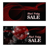 Red abstract backdrops. Black Friday sale background. Business cards. Vector illustration Royalty Free Stock Images