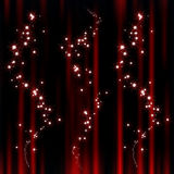 Red abstract background. With sparkle stars Royalty Free Stock Photos