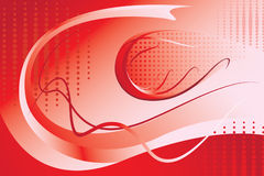Red abstract background. The beautiful bright red abstract background, wall-paper Royalty Free Stock Image