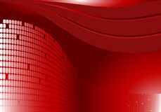 Red abstract background. Waved deep red abstract background Royalty Free Stock Photography