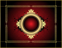 Red abstract background Stock Photography