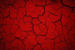 Red abstract background. Cracked wall Stock Image