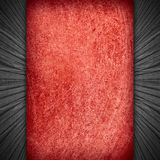 Red abstract background. And black wooden boards margins, rough texture royalty free illustration