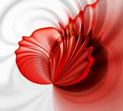 Red abstract background. Red 3D rendered abstract background Stock Photography
