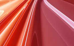 Red abstract background. Red 3D rendered abstract background Royalty Free Stock Photo