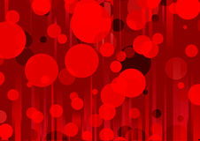 Red abstract background. This is the vector illustration of a stylized red abstract background of Party disco glowing lights Royalty Free Illustration