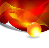 Red Abstract Background. With free space for text, Vector illustration Royalty Free Stock Images