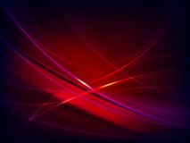 Red abstract background. Red, Burgundy, dark background with bright glowing lines Stock Image
