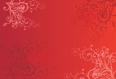 Red abstract background with circles Stock Photo