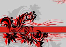 Red abstract background /EPS. Red abstract background with a line in the middle Royalty Free Stock Images