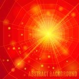 Red abstract background with flare. Vector illustration royalty free illustration