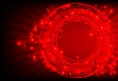 Red abstract background with glowing lights Stock Photo