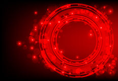 Red abstract background with glowing lights. Technological Abstract with bright light stock illustration