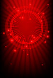 Red abstract background with glowing lights. Technological Abstract with bright light vector illustration