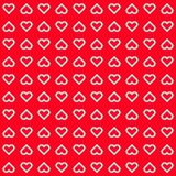 Red Abstract Background with Heart Signs Stock Photo