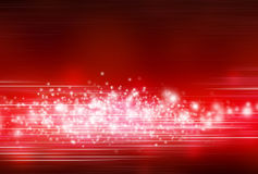 Red abstract background. A red abstract background with lights and blurs stock illustration