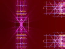 Red abstract background, lines and light Stock Photo