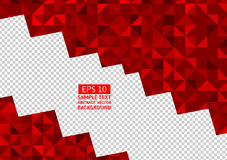 Red abstract background. LowPoly vector illustration transparency layers Stock Images