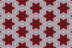 Red abstract background pattern textured. Lines and symmetrical shapes royalty free stock photos