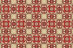 Red abstract background pattern textured. Lines and symmetrical shapes royalty free stock photo